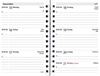 Kalender 2021 Leader refill svart