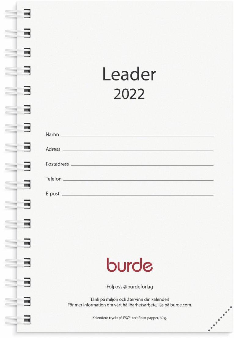 Kalender 2022 Leader refill svart 1