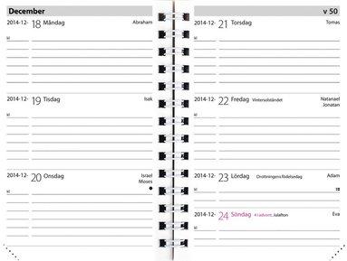 Kalender 2019 Leader refill svart