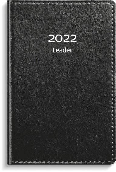 Kalender 2022 Leader konstläder svart