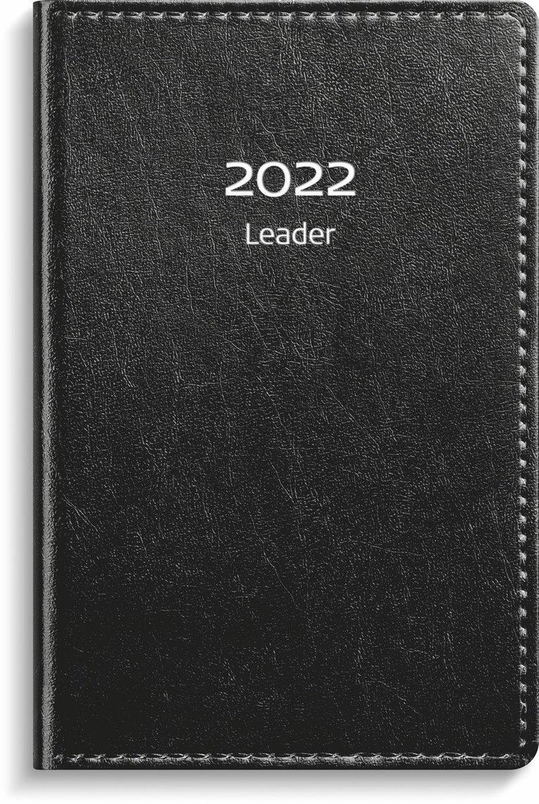 Kalender 2022 Leader konstläder svart 1