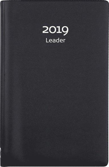 Kalender 2019 Leader spiral plast svart 1