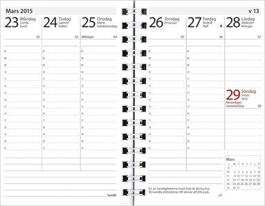 Kalender 2019 Prestige spiral refill svart