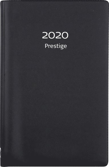Kalender 2020 Prestige spiral plast svart 1