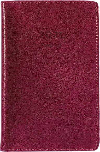 Kalender 2021 Prestige konstläder röd 1