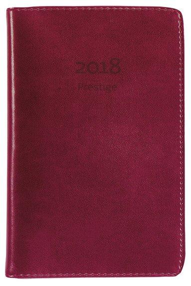 Kalender 2019 Prestige konstläder röd 1