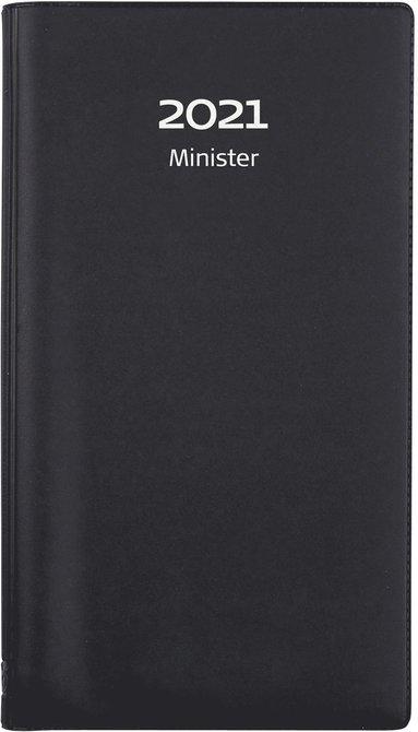 Kalender 2021 Minister plast svart 1