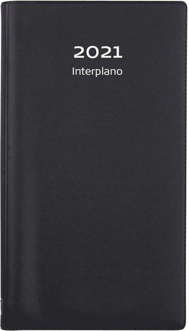Kalender 2021 Interplano plast svart 1