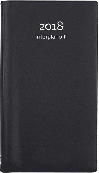Kalender 2018 Interplano II plast svart 1