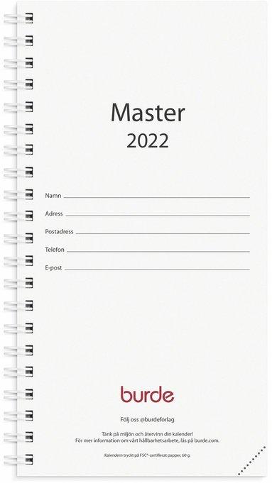 Kalender 2022 Master refill svart