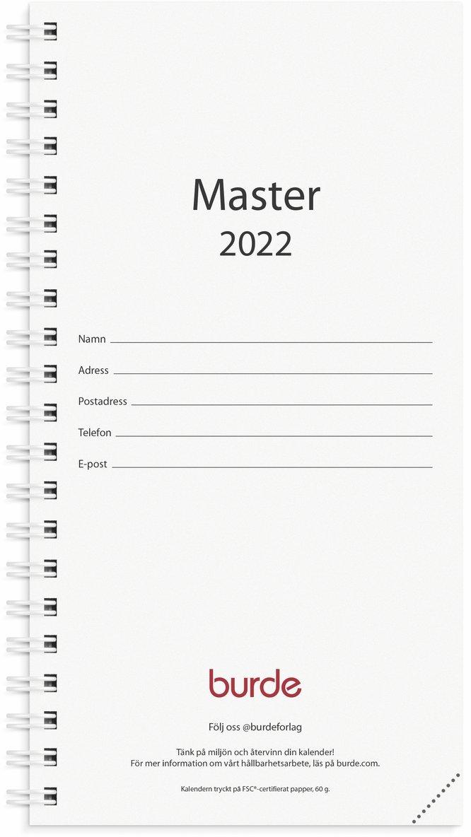 Kalender 2022 Master refill svart 1