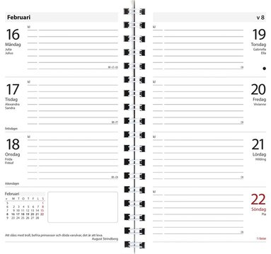 Kalender 2018 Master konstläder svart 1
