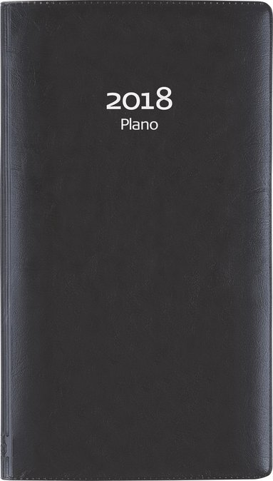 Kalender 2018 Plano plast svart 1