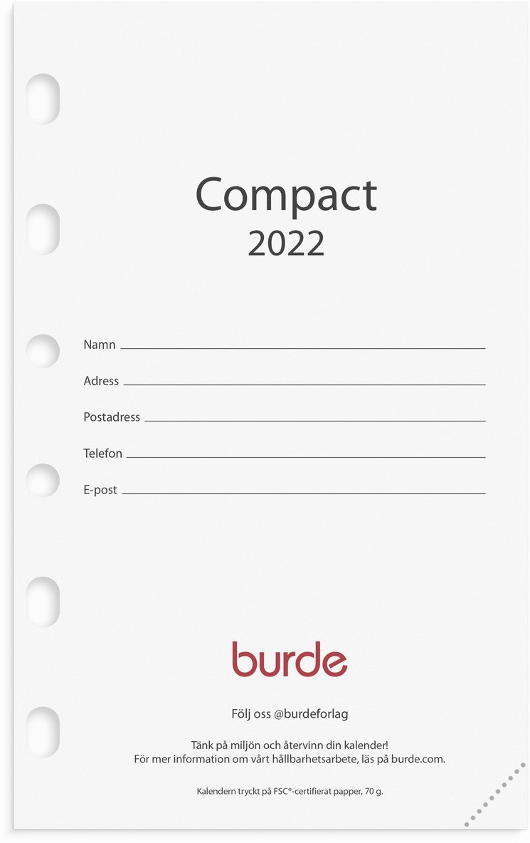 Kalendersats 2022 Compact 1