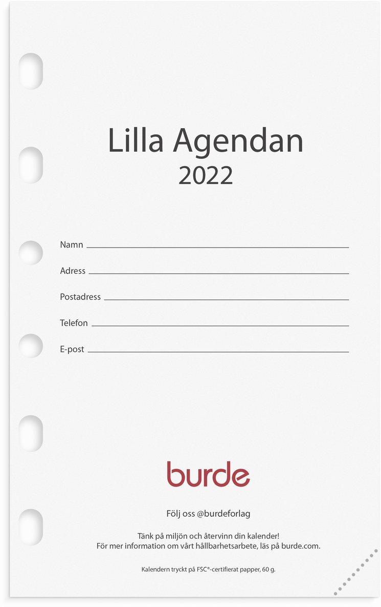 Kalendersats 2022 Compact Lilla Agendan 1