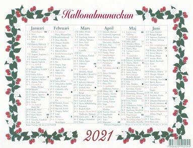 Väggblad 2021 Lilla Hallonalmanackan
