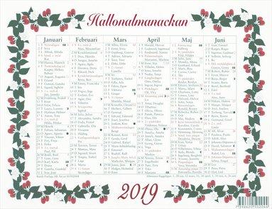 Väggblad 2019 Lilla Hallonalmanackan