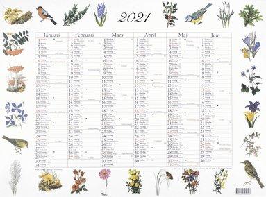 Väggblad 2021 Stora Naturalmanackan för anteckningar
