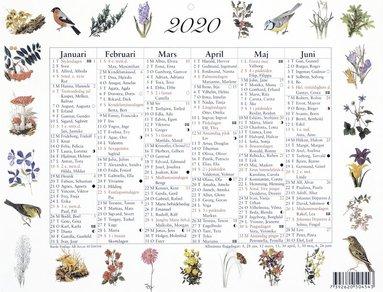 Väggblad 2020 Lilla Naturalmanackan