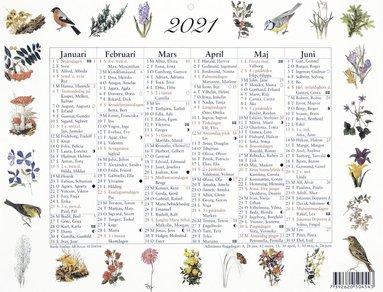Väggblad 2021 Lilla Naturalmanackan