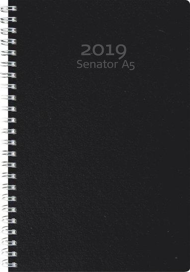 Kalender 2019 Senator A5 Eco Line svart 1