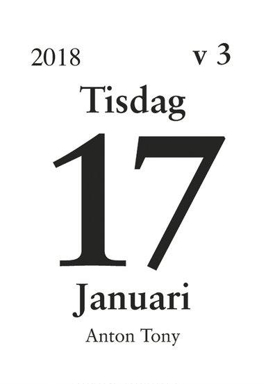 Väggblad 2018 Dagblock 44x63mm
