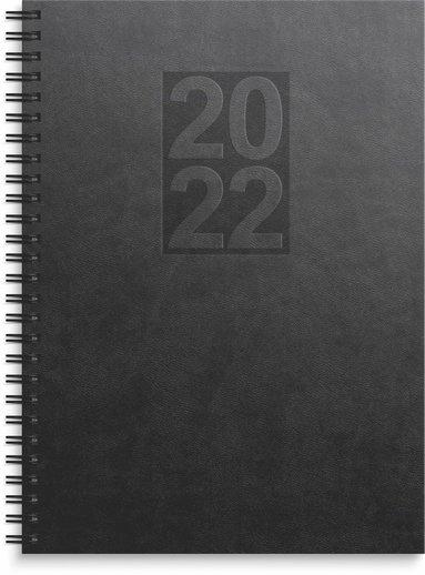 Kalender 2022 Business Country konstläder svart