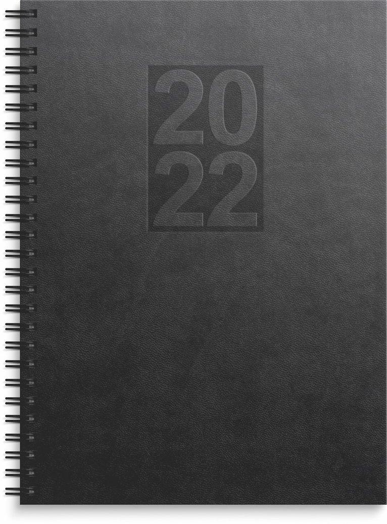 Kalender 2022 Business Country konstläder svart 1