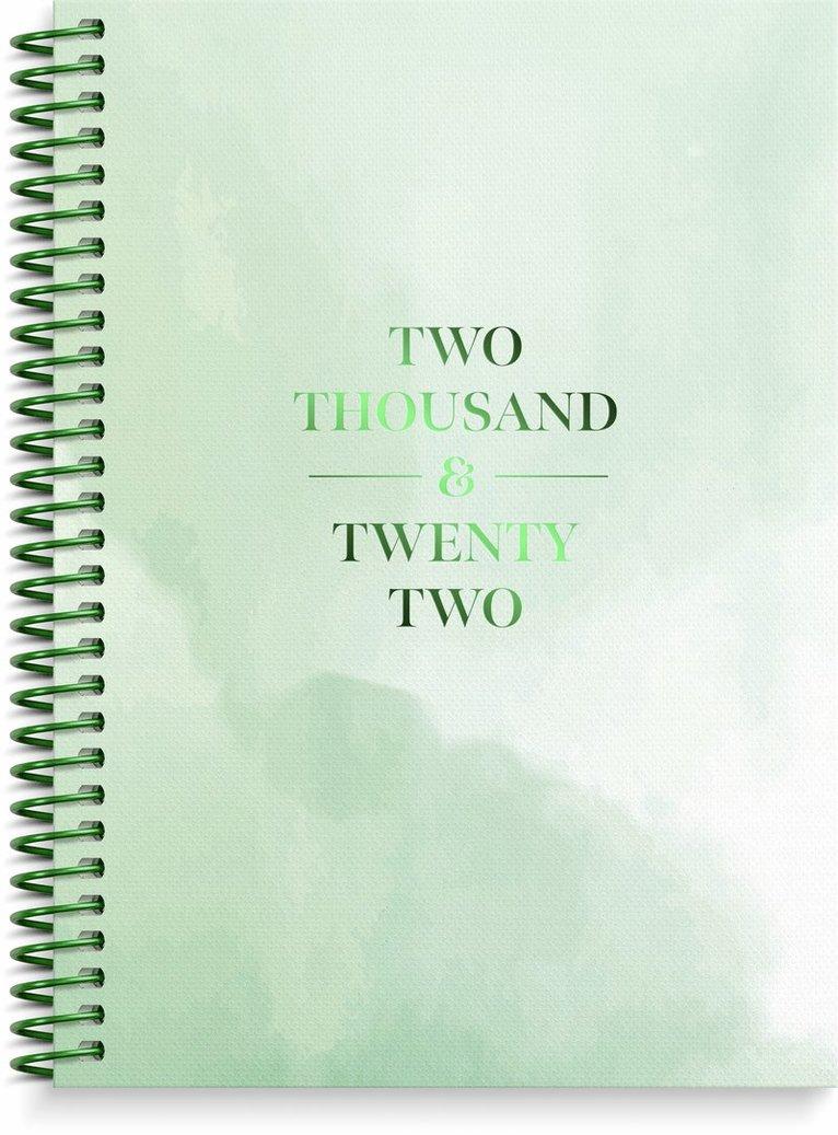 Kalender 2022 Senator A6 Story grön 1