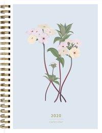 Kalender 2020 Senator A5 blomma ljusblå