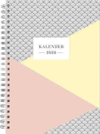 Kalender 2020 Senator A5 grafisk aprikos 1