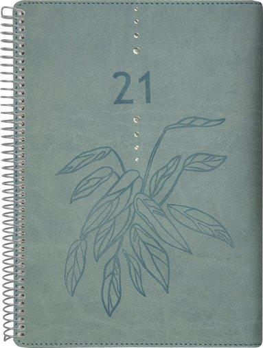 Kalender 2021 Liten Veckokalender Twist grön 1