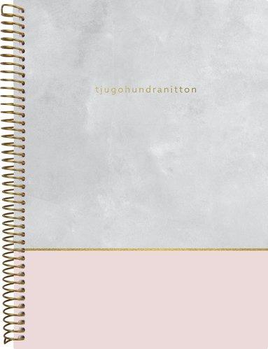 Kalender 2019 Weekly A5 Velvet rosagrå 1