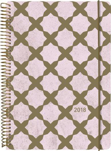 Kalender 2018 Business Solo guldrosa 1