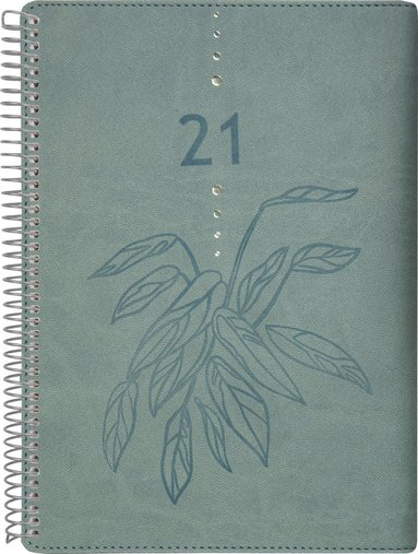 Kalender 2021 Dagbok Twist grön 1