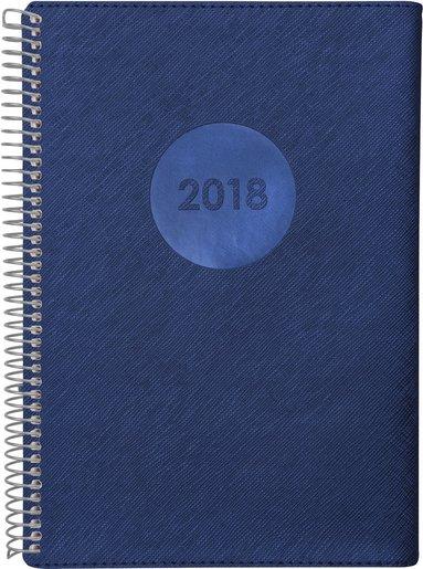 Kalender 2018 Senator A5 Twist blå 1