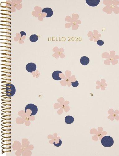 Kalender 2020 Weekly A5 Saga blomma 1