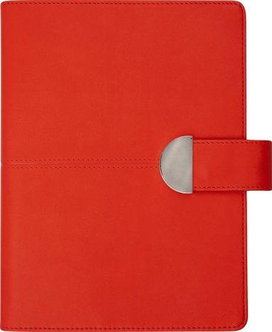 Kalender 2020 Weekly A5 Lesina med slejf konstläder röd 1