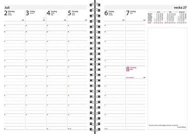 Kalender 2018 Business Mabel blå 2