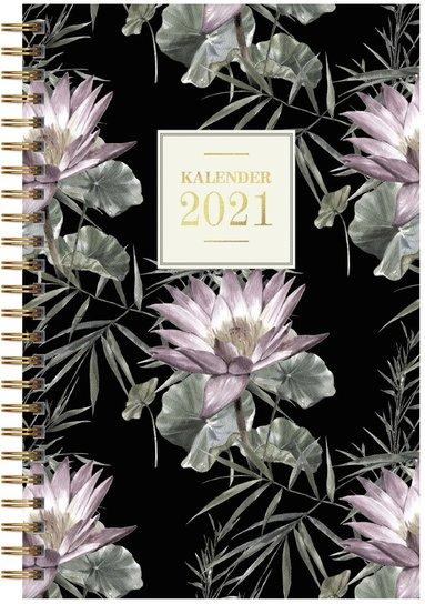 Kalender 2021 Senator A5 blom mörk botten 1