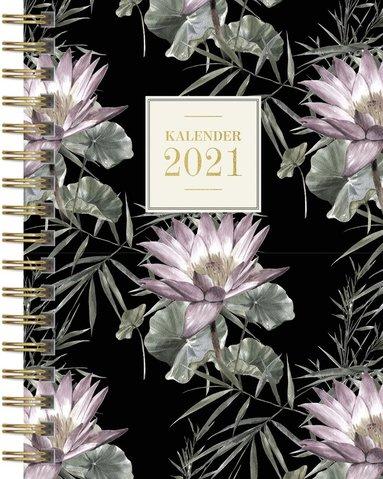 Kalender 2021 Senator A6 blom mörk botten 1