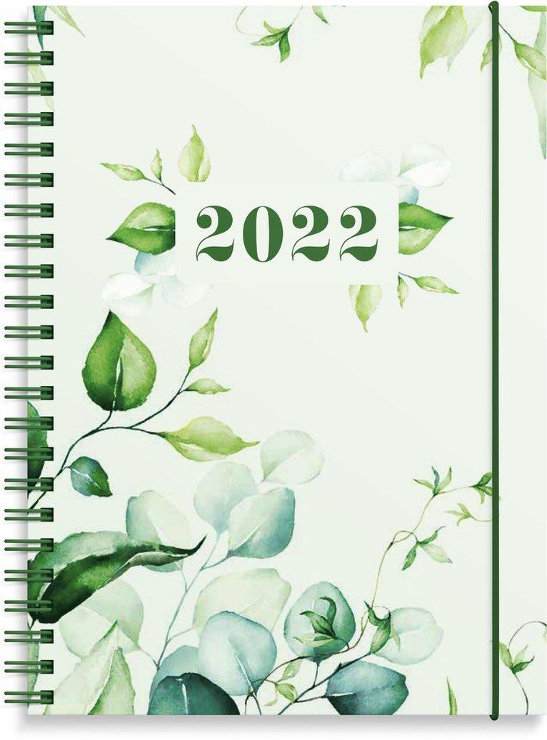 Kalender 2022 Business gröna blad 1