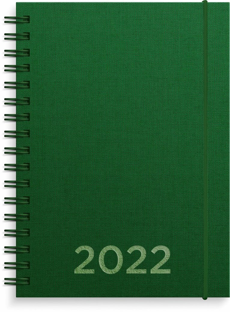 Kalender 2022 Senator A6 textil grön 1