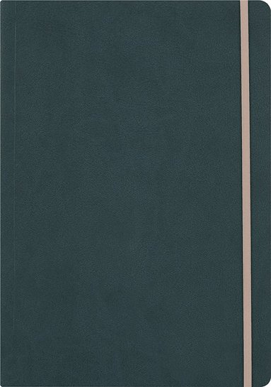 Anteckningsbok A5 linjerat konstläder mörkgrön