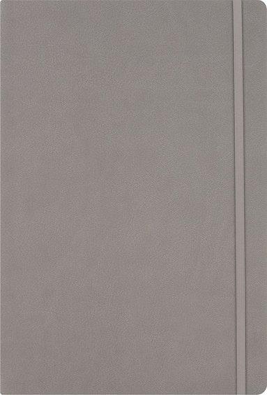 Anteckningsbok A5 linjerat konstläder gråbeige