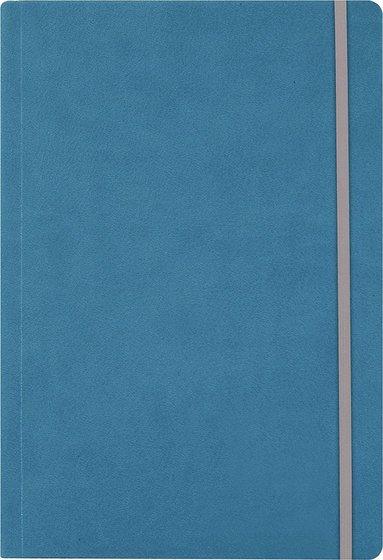 Anteckningsbok A5 linjerat konstläder blå