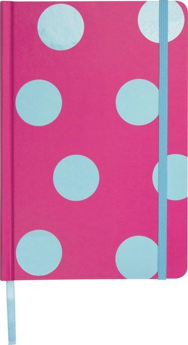Anteckningsbok A5 linjerat rosa/blå