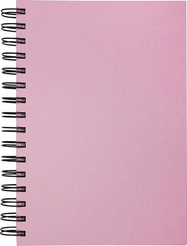 Anteckningsbok A5 linjerat spiral rosa