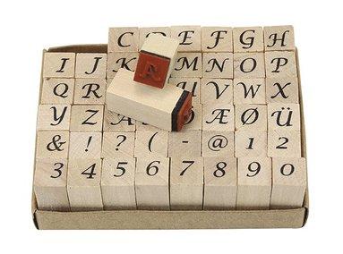 Stämpelset alfabet & siffror