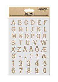 Schabloner alfabet & siffror